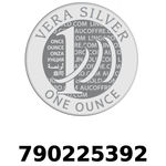 Réf. 790225392 Vera Silver 1 once (LSP)  2018 - REVERS