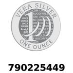 Réf. 790225449 Vera Silver 1 once (LSP)  2018 - REVERS