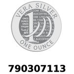 Réf. 790307113 Vera Silver 1 once (LSP)  2018 - REVERS