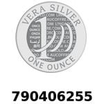 Réf. 790406255 Vera Silver 1 once (LSP)  2018 - REVERS