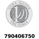 Réf. 790406750 Vera Silver 1 once (LSP)  2018 - REVERS