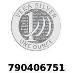 Réf. 790406751 Vera Silver 1 once (LSP)  2018 - REVERS
