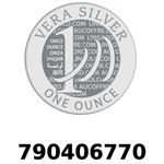 Réf. 790406770 Vera Silver 1 once (LSP)  2018 - REVERS