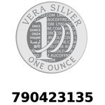 Réf. 790423135 Vera Silver 1 once (LSP)  2018 - REVERS