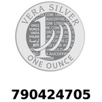 Réf. 790424705 Vera Silver 1 once (LSP)  2018 - REVERS