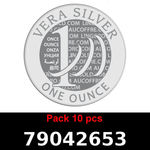 Réf. 79042653 Lot 10 Vera Silver 1 once (LSP)  2018 - REVERS