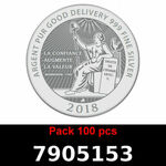 Réf. 7905153 Lot 100 Vera Silver 1 once (LSP - 40MM)  2018 - REVERS