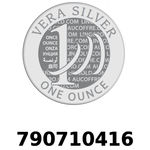 Réf. 790710416 Vera Silver 1 once (LSP - 40MM)  2018 - REVERS