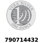 Réf. 790714432 Vera Silver 1 once (LSP)  2018 - REVERS