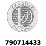 Réf. 790714433 Vera Silver 1 once (LSP)  2018 - REVERS
