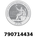 Réf. 790714434 Vera Silver 1 once (LSP)  2018 - REVERS