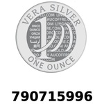 Réf. 790715996 Vera Silver 1 once (LSP)  2018 - REVERS