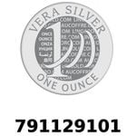 Réf. 791129101 Vera Silver 1 once (LSP)  2018 - REVERS