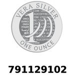 Réf. 791129102 Vera Silver 1 once (LSP)  2018 - REVERS