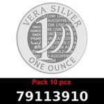 Réf. 79113910 Lot 10 Vera Silver 1 once (LSP)  2018 - REVERS