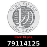 Réf. 79114125 Lot 10 Vera Silver 1 once (LSP)  2018 - REVERS