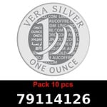 Réf. 79114126 Lot 10 Vera Silver 1 once (LSP)  2018 - REVERS