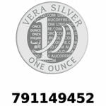 Réf. 791149452 Vera Silver 1 once (LSP)  2018 - REVERS