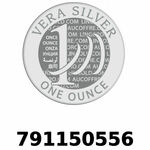 Réf. 791150556 Vera Silver 1 once (LSP)  2018 - REVERS
