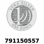 Réf. 791150557 Vera Silver 1 once (LSP)  2018 - REVERS
