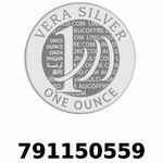 Réf. 791150559 Vera Silver 1 once (LSP)  2018 - REVERS