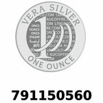 Réf. 791150560 Vera Silver 1 once (LSP)  2018 - REVERS