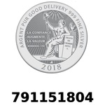 Réf. 791151804 Vera Silver 1 once (LSP)  2018 - REVERS