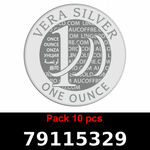 Réf. 79115329 Lot 10 Vera Silver 1 once (LSP)  2018 - REVERS