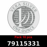 Réf. 79115331 Lot 10 Vera Silver 1 once (LSP)  2018 - REVERS