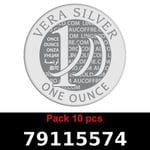 Réf. 79115574 Lot 10 Vera Silver 1 once (LSP)  2018 - REVERS