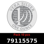 Réf. 79115575 Lot 10 Vera Silver 1 once (LSP)  2018 - REVERS