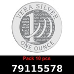 Réf. 79115578 Lot 10 Vera Silver 1 once (LSP)  2018 - REVERS